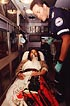 inside ambulance