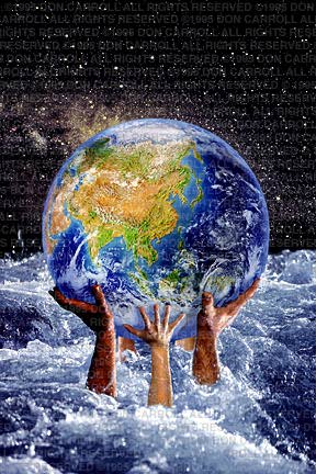 world in hands, earth